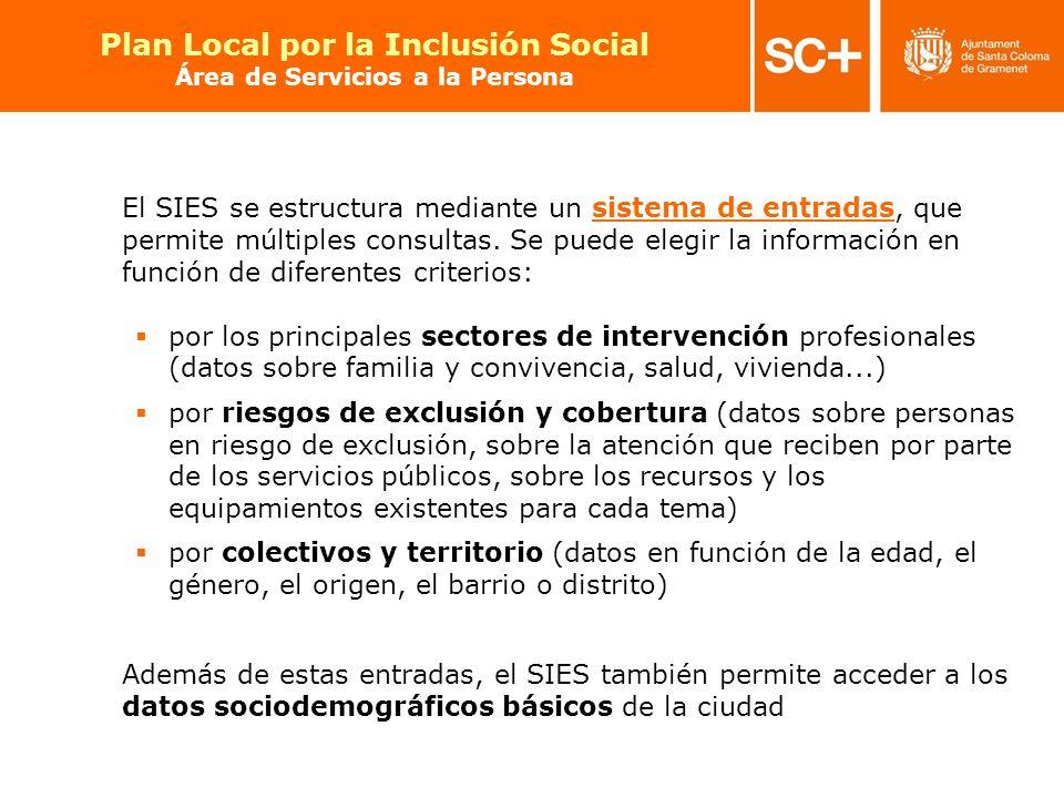 Plan Local por la Inclusión Social Área de Servicios a la Persona