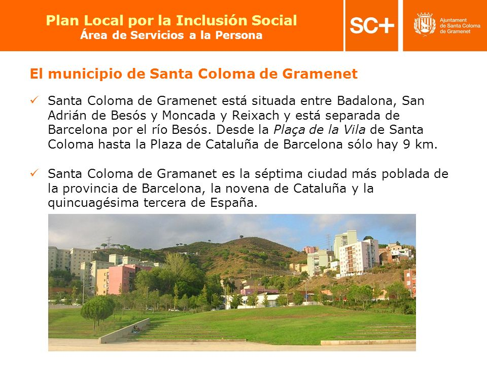 El municipio de Santa Coloma de Gramenet