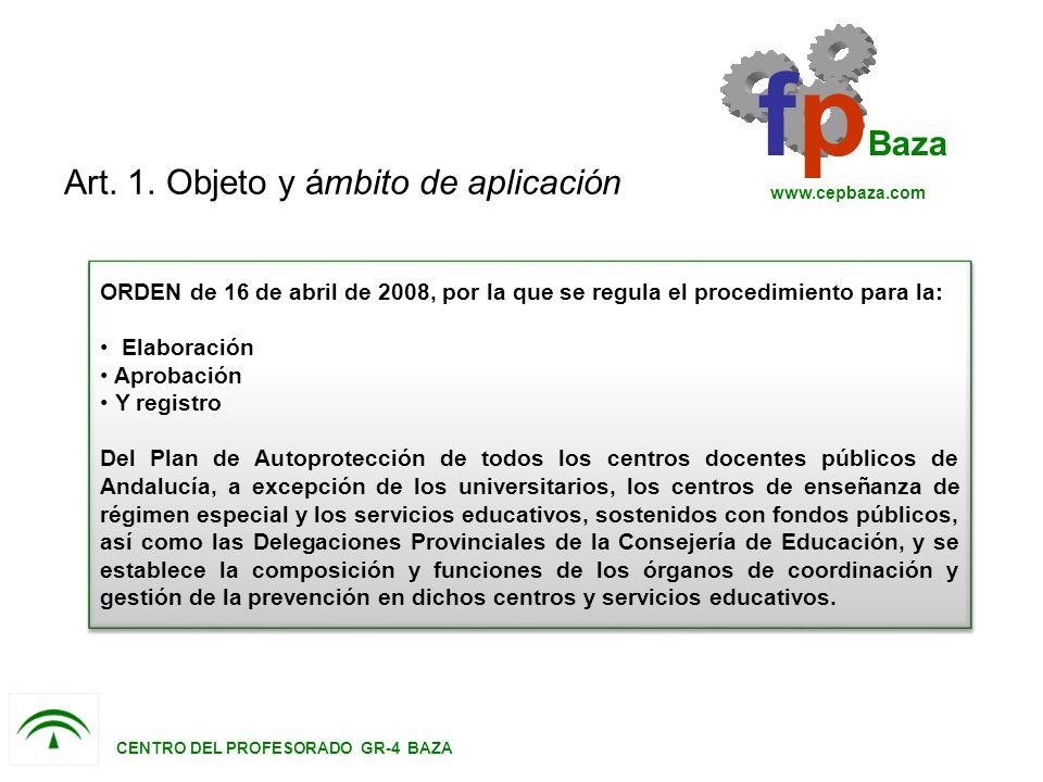 fpBaza Art. 1. Objeto y ámbito de aplicación