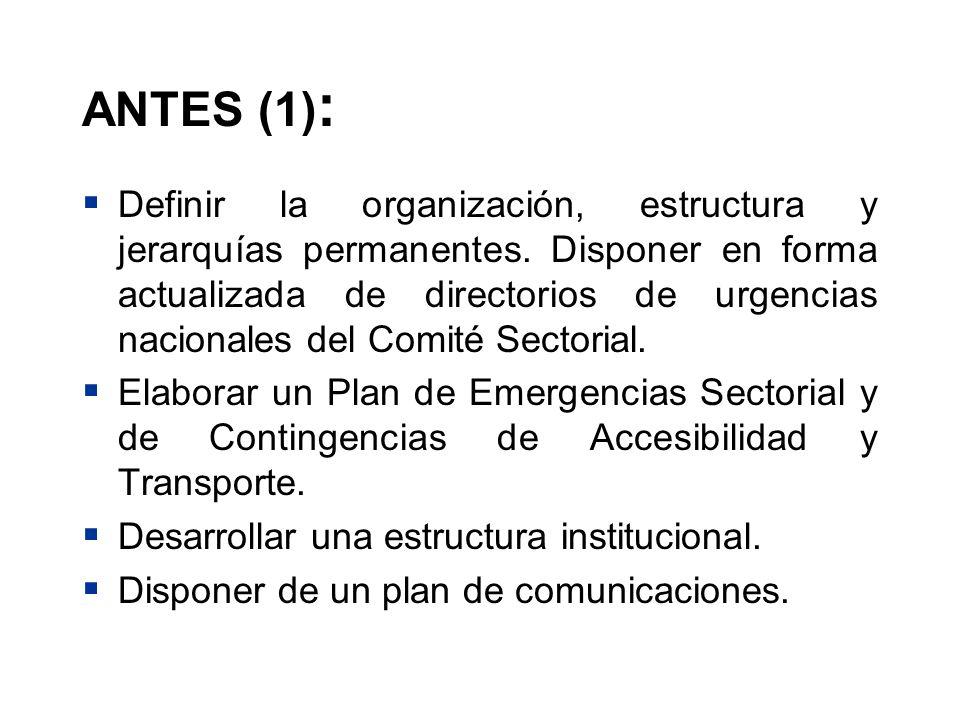ANTES (1):