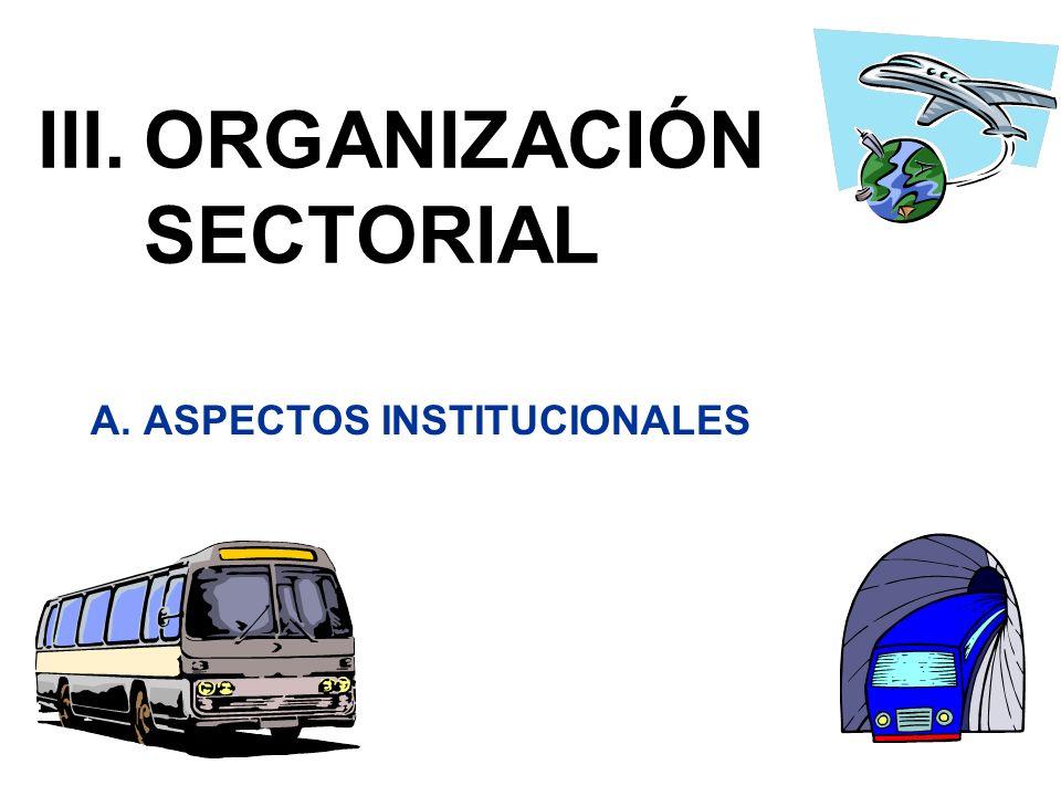III. ORGANIZACIÓN SECTORIAL