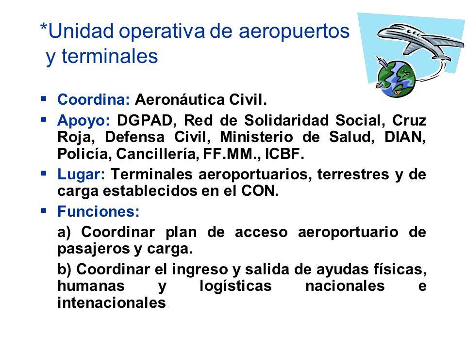 *Unidad operativa de aeropuertos y terminales