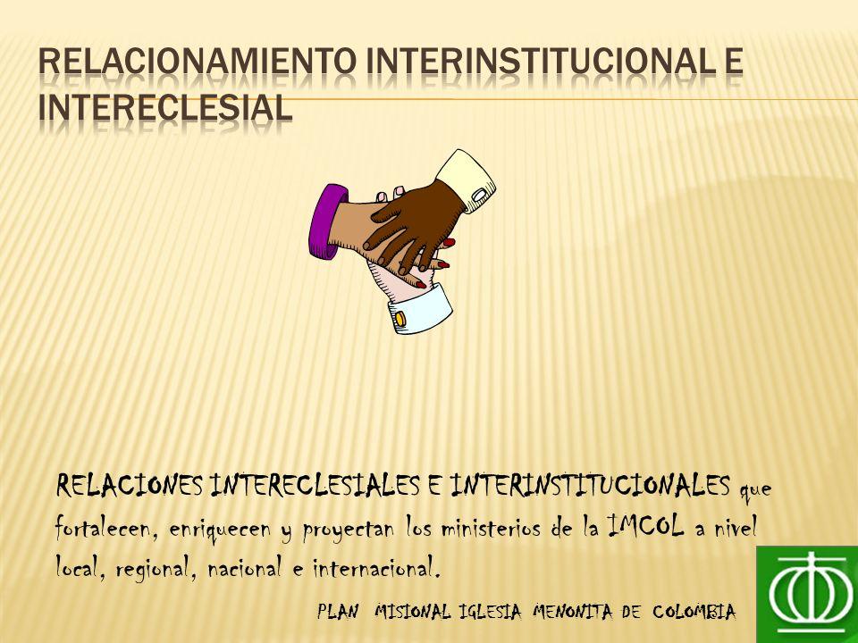RELACIONAMIENTO INTERINSTITUCIONAL E INTERECLESIAL
