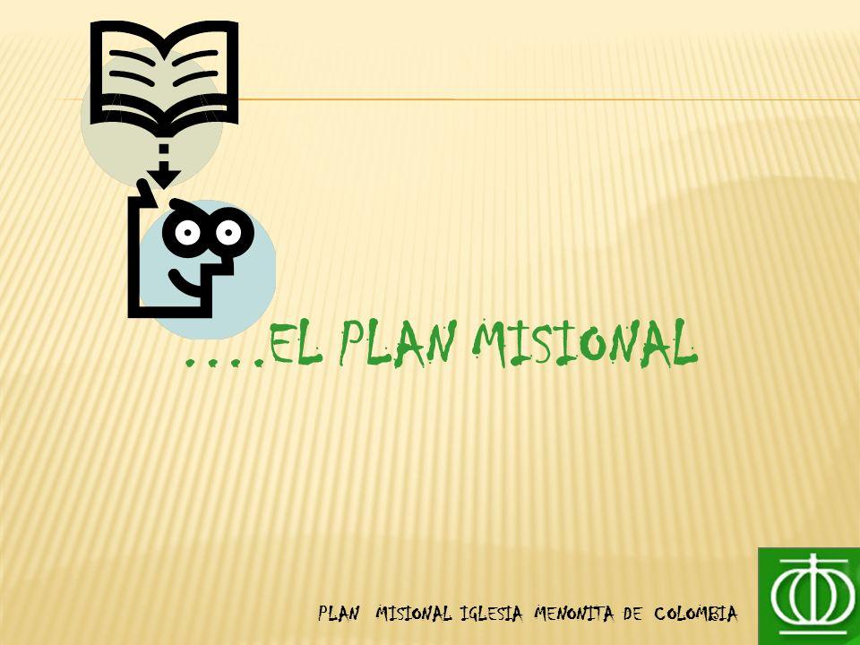 ….EL PLAN MISIONAL PLAN MISIONAL IGLESIA MENONITA DE COLOMBIA