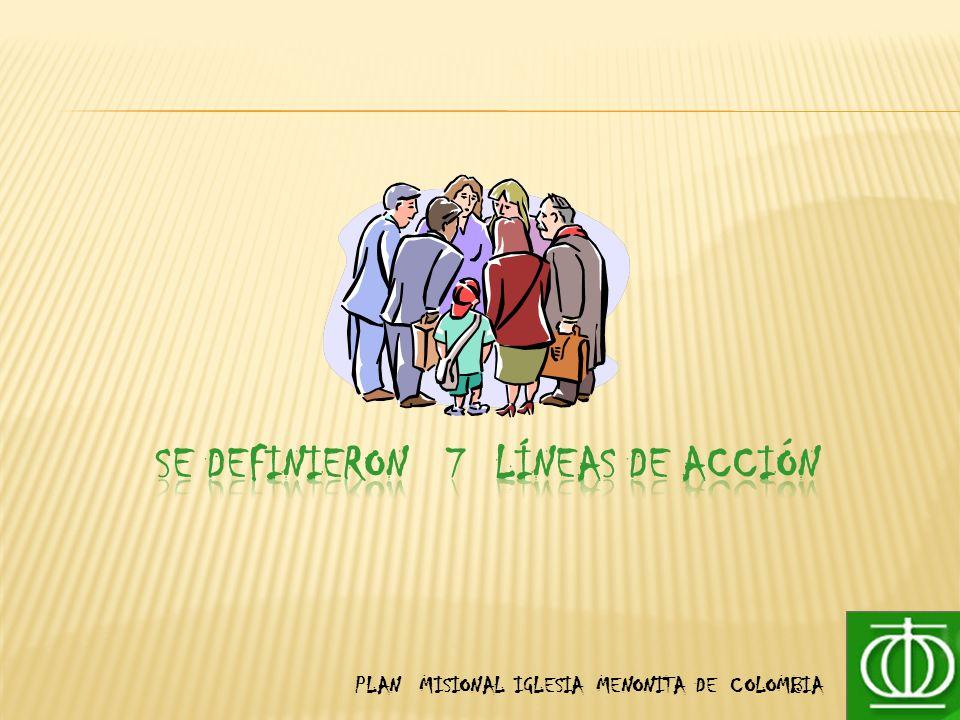 SE DEFINIERON 7 LÍNEAS DE ACCIÓN