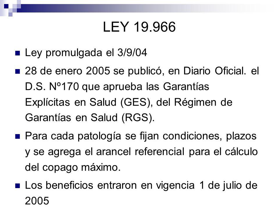 LEY 19.966 Ley promulgada el 3/9/04