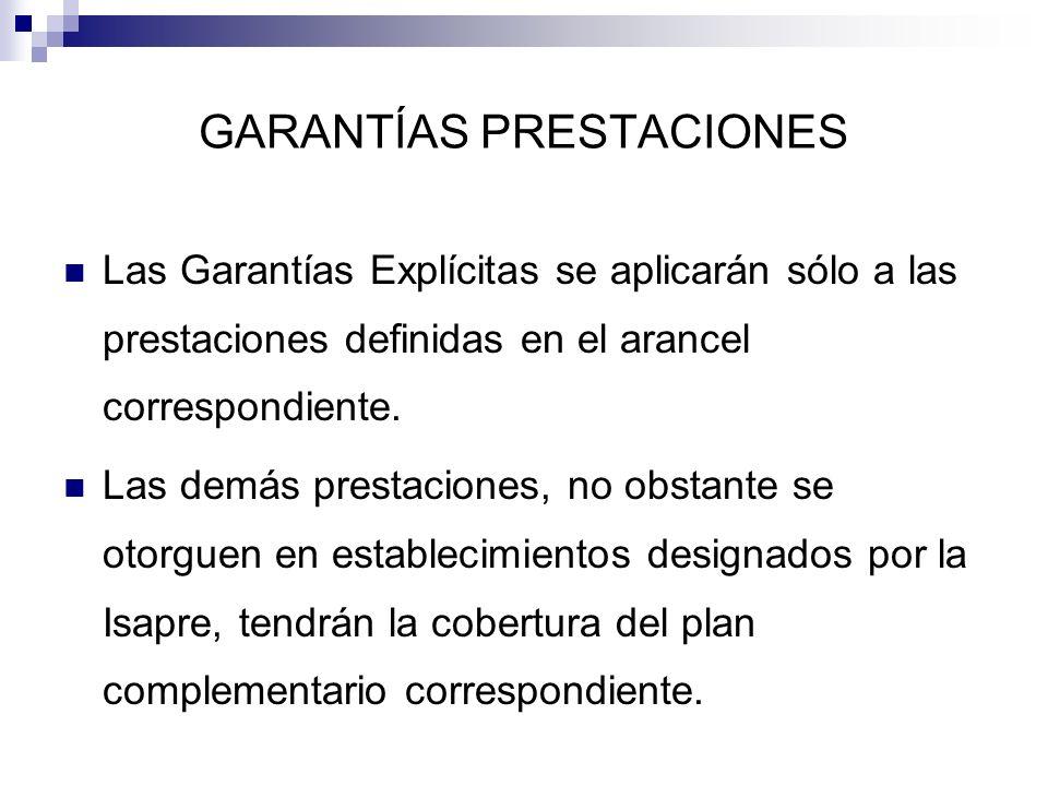 GARANTÍAS PRESTACIONES