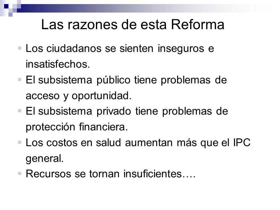 Las razones de esta Reforma