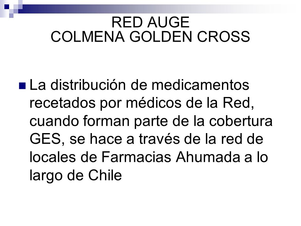 RED AUGE COLMENA GOLDEN CROSS