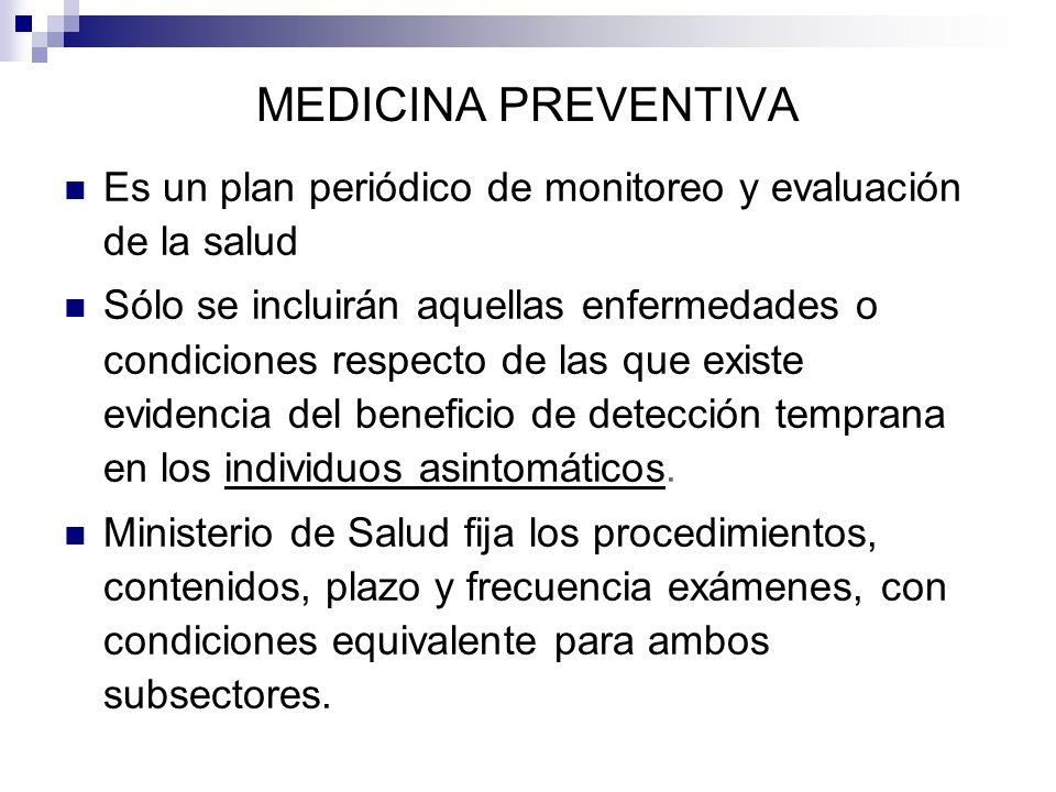 MEDICINA PREVENTIVA Es un plan periódico de monitoreo y evaluación de la salud.