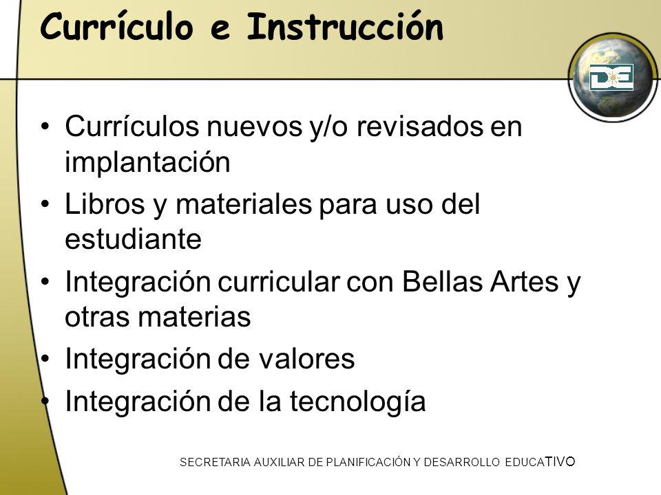 Currículo e Instrucción