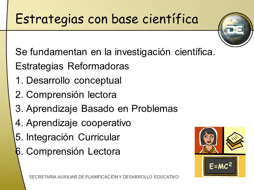 Estrategias con base científica