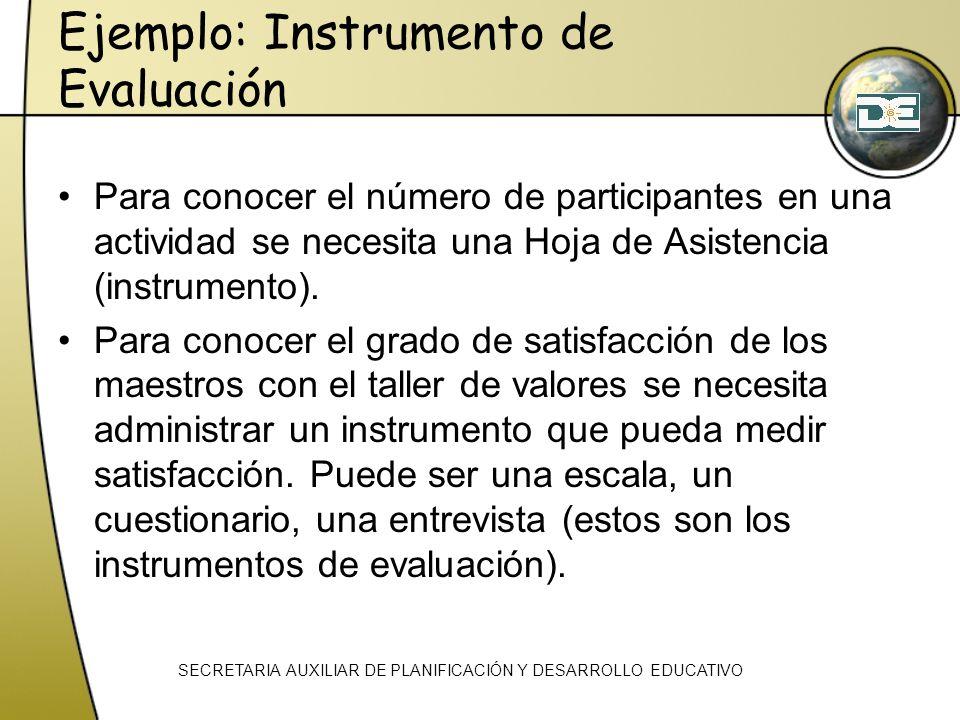 Ejemplo: Instrumento de Evaluación