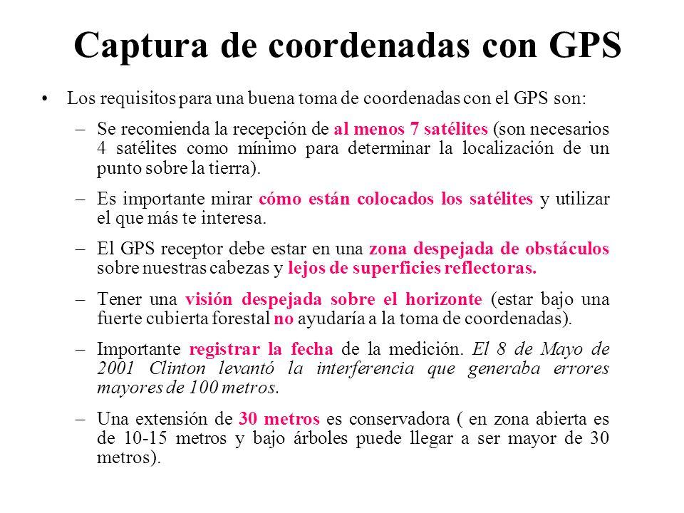 Captura de coordenadas con GPS