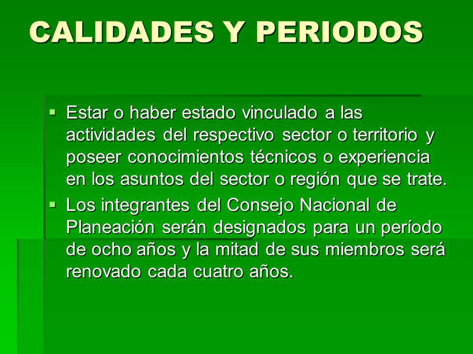 CALIDADES Y PERIODOS