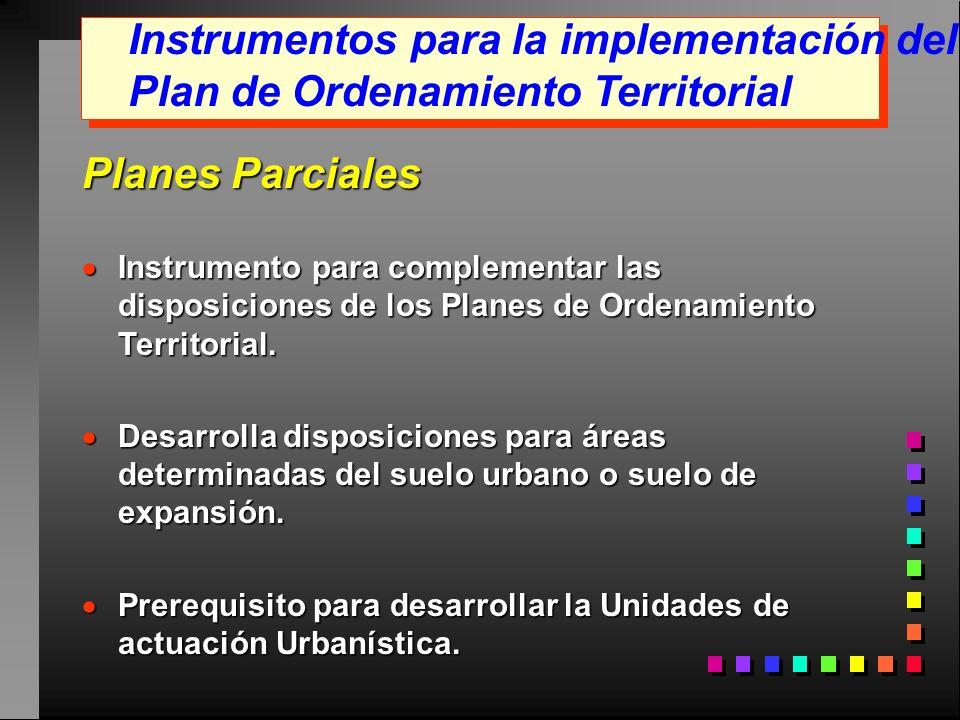 Instrumentos para la implementación del