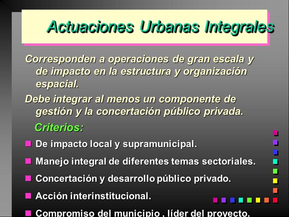 Actuaciones Urbanas Integrales