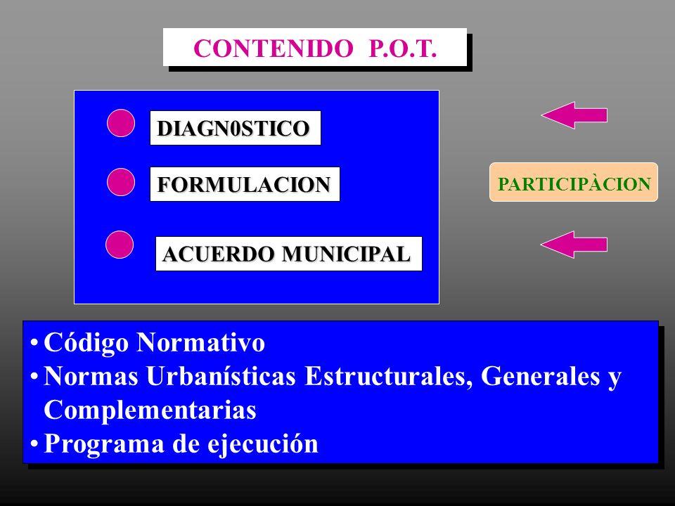 Normas Urbanísticas Estructurales, Generales y Complementarias