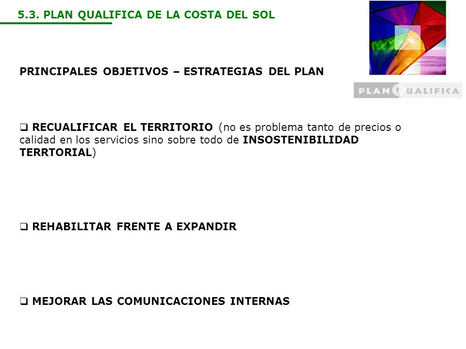 5.3. PLAN QUALIFICA DE LA COSTA DEL SOL