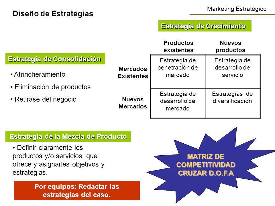 Diseño de Estrategias Estrategia de Crecimiento
