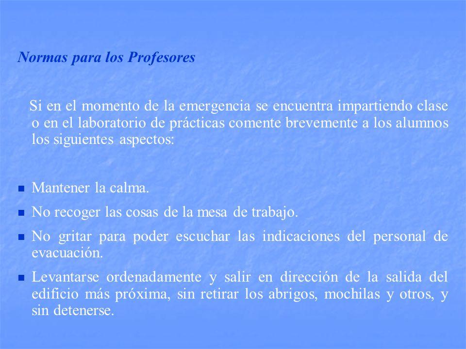 Normas para los Profesores
