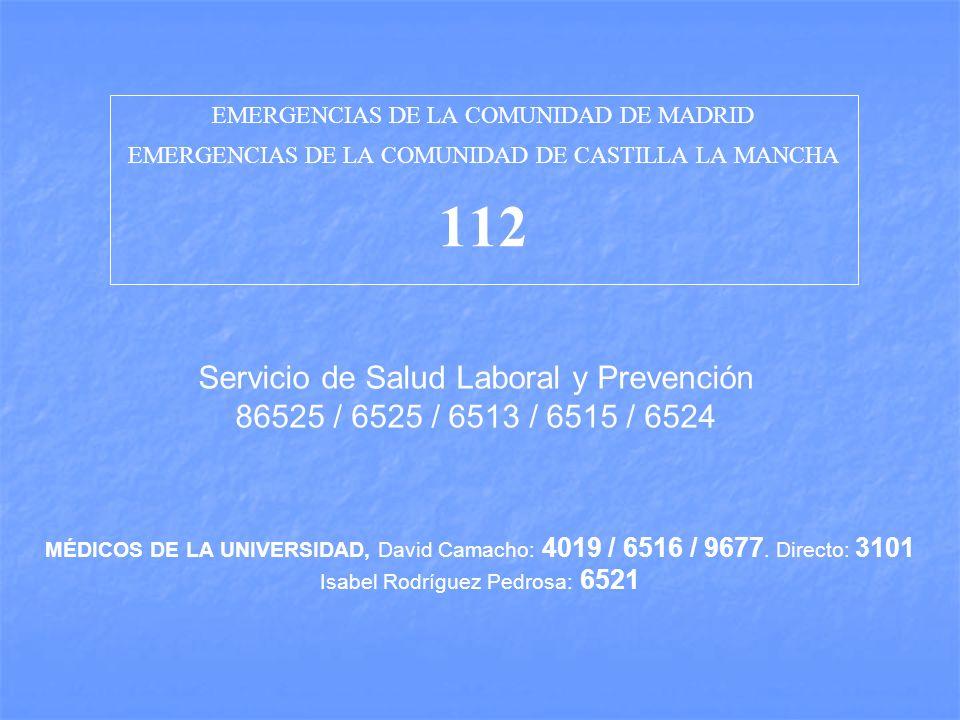 112 Servicio de Salud Laboral y Prevención