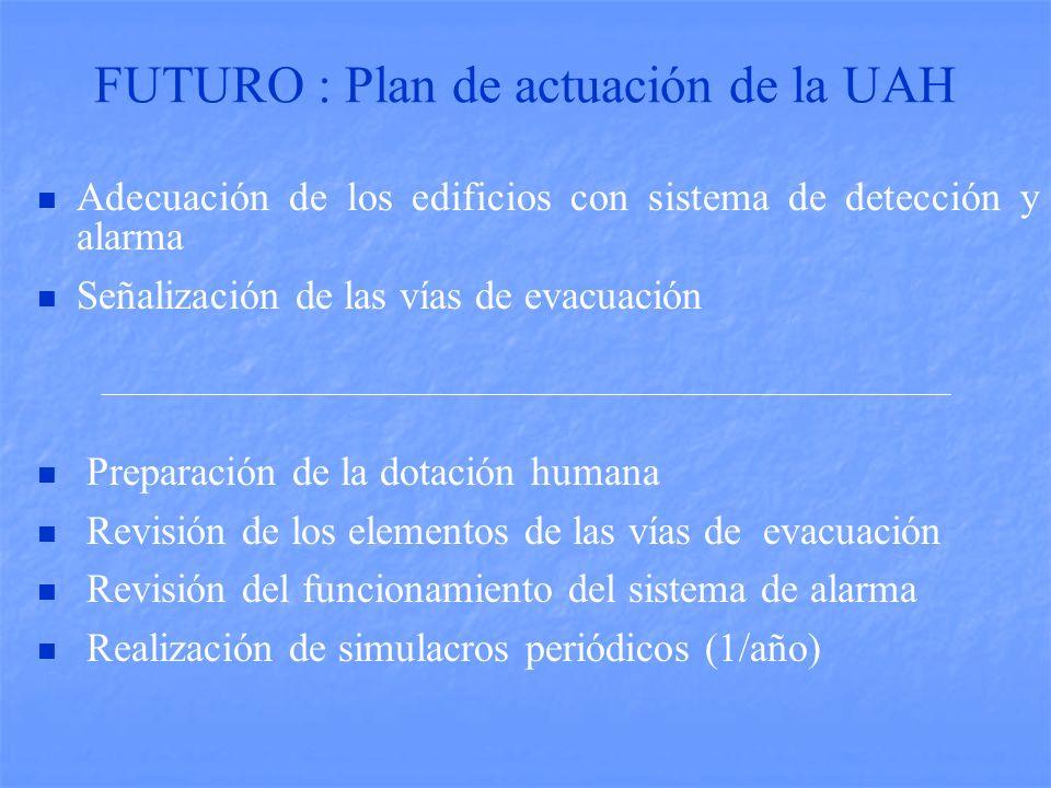 FUTURO : Plan de actuación de la UAH
