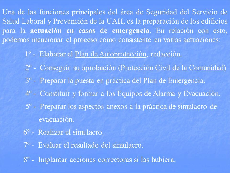 1º - Elaborar el Plan de Autoprotección, redacción.