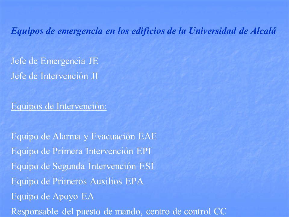 Equipos de emergencia en los edificios de la Universidad de Alcalá