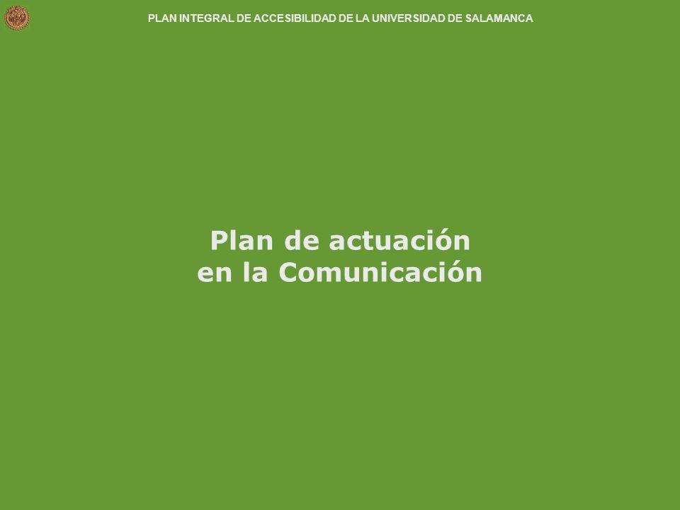 Plan de actuación en la Comunicación
