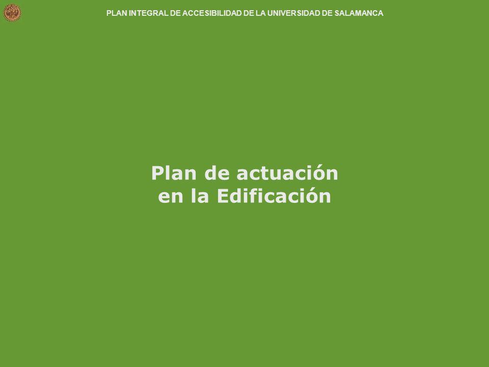 Plan de actuación en la Edificación