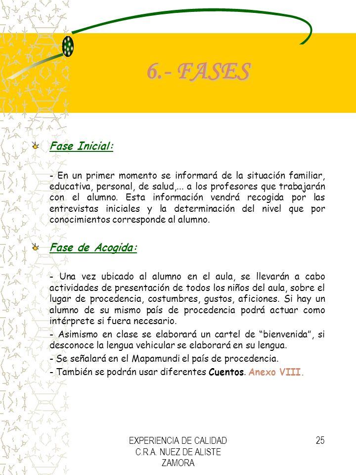 PLAN DE ACOGIDA C.R.A. NUEZ DE ALISTE ZAMORA
