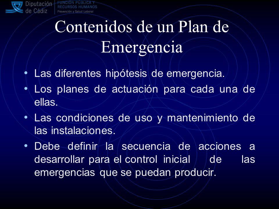 Contenidos de un Plan de Emergencia