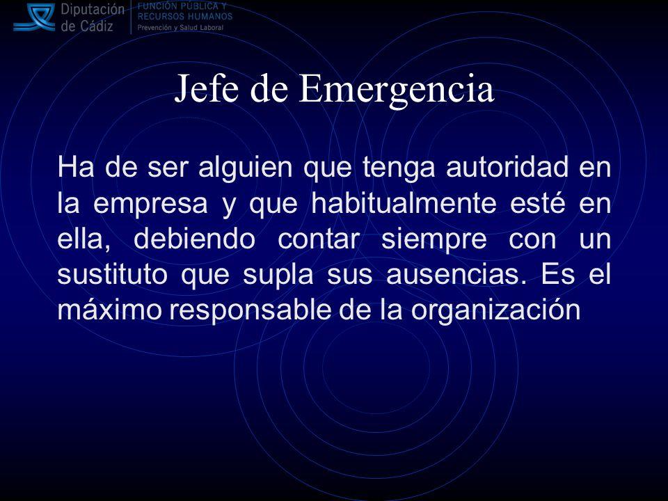 Jefe de Emergencia