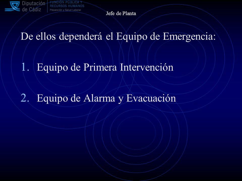 De ellos dependerá el Equipo de Emergencia: