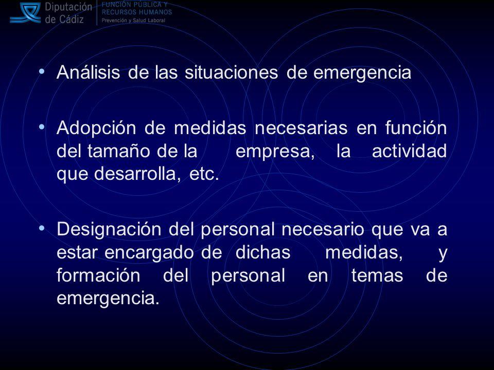 Análisis de las situaciones de emergencia