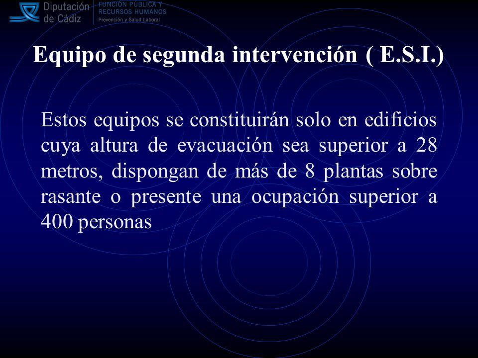 Equipo de segunda intervención ( E.S.I.)