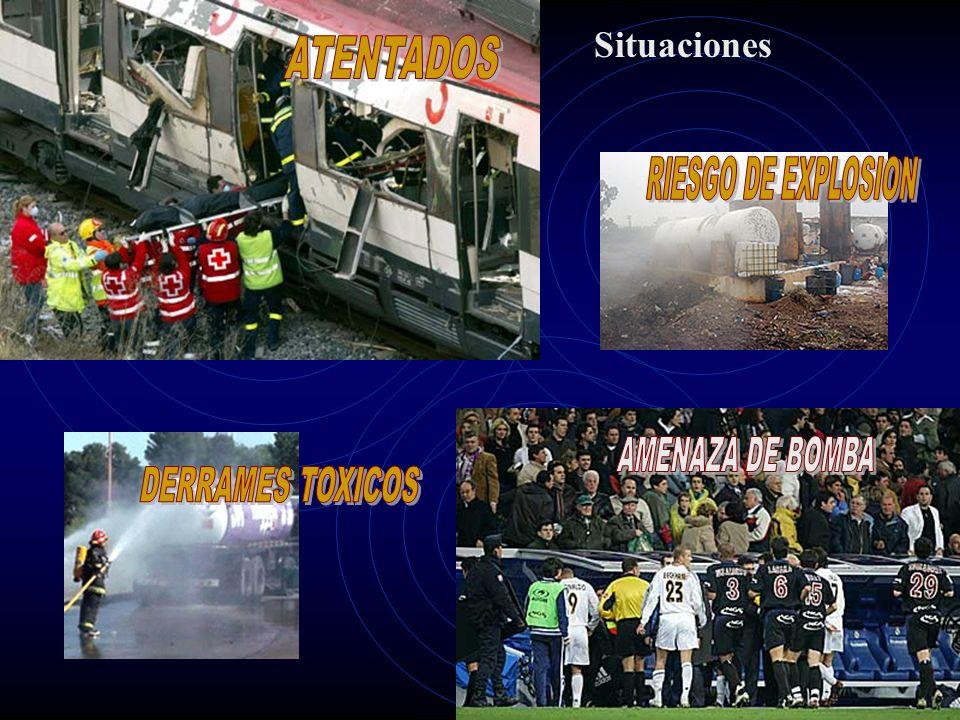 Situaciones ATENTADOS RIESGO DE EXPLOSION AMENAZA DE BOMBA