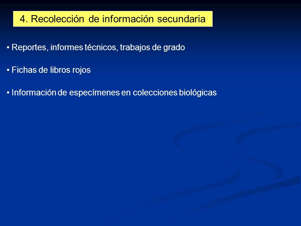4. Recolección de información secundaria