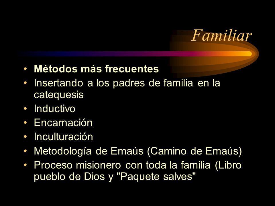 Familiar Métodos más frecuentes