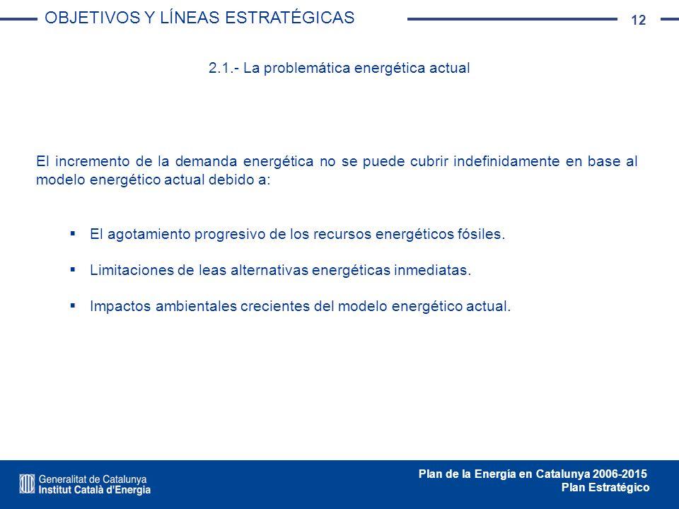 2.1.- La problemática energética actual