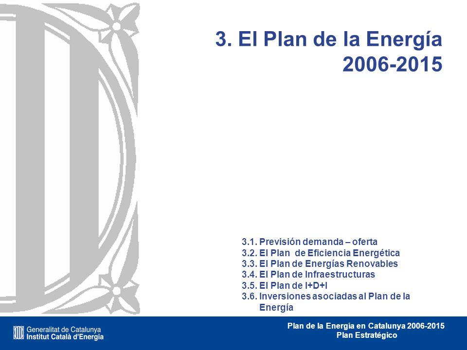 3. El Plan de la Energía 2006-2015 3.1. Previsión demanda – oferta