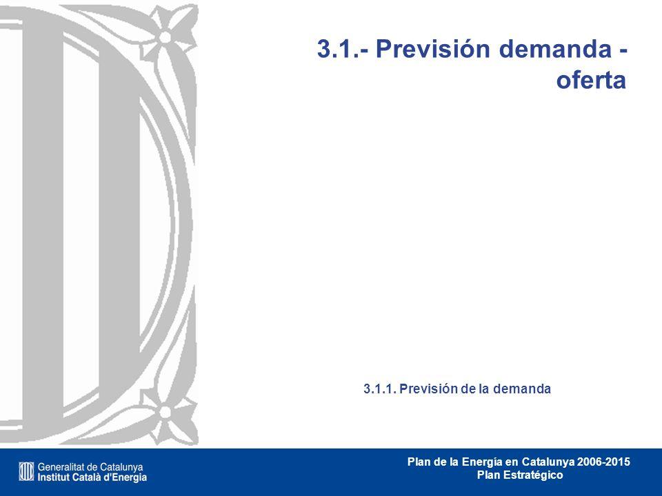3.1.- Previsión demanda - oferta