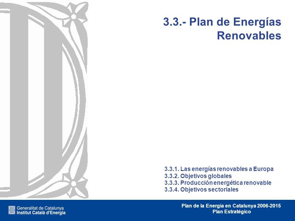 3.3.- Plan de Energías Renovables