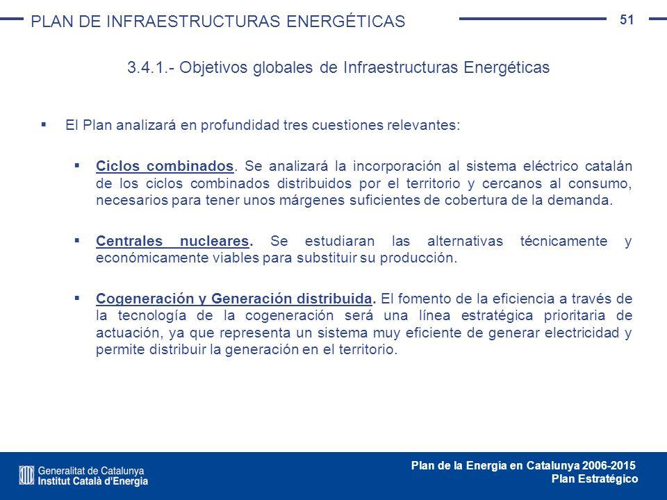 3.4.1.- Objetivos globales de Infraestructuras Energéticas
