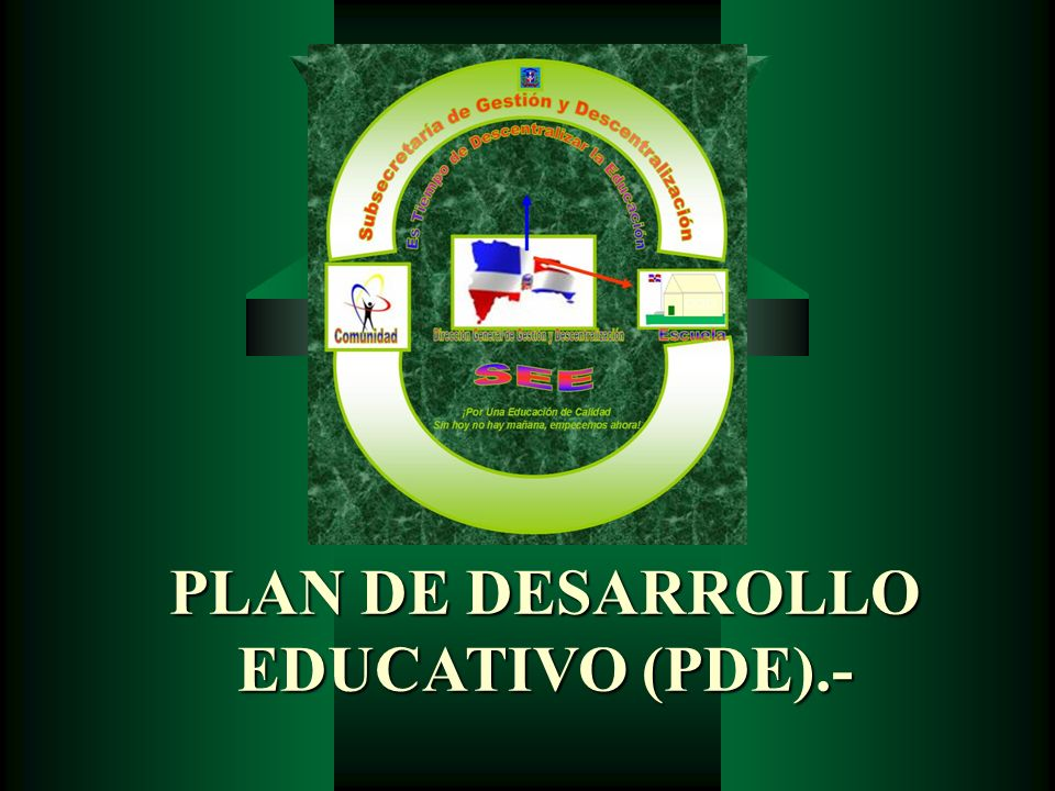 PLAN DE DESARROLLO EDUCATIVO (PDE).-