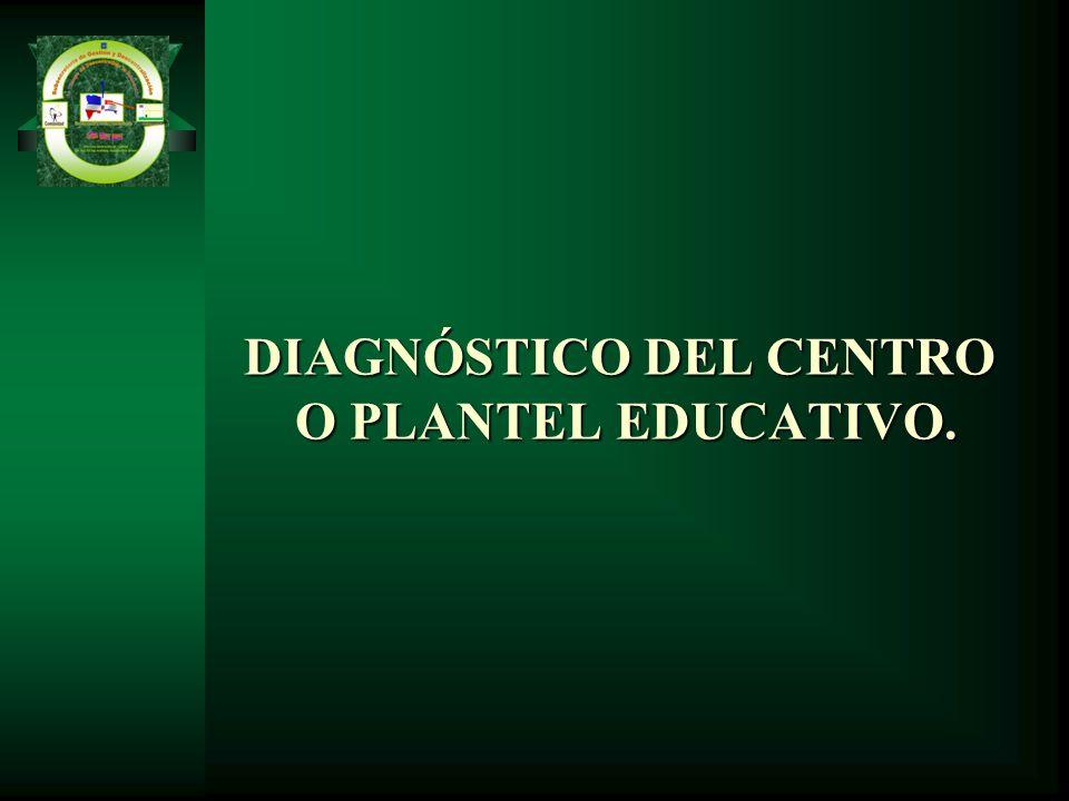 DIAGNÓSTICO DEL CENTRO O PLANTEL EDUCATIVO.