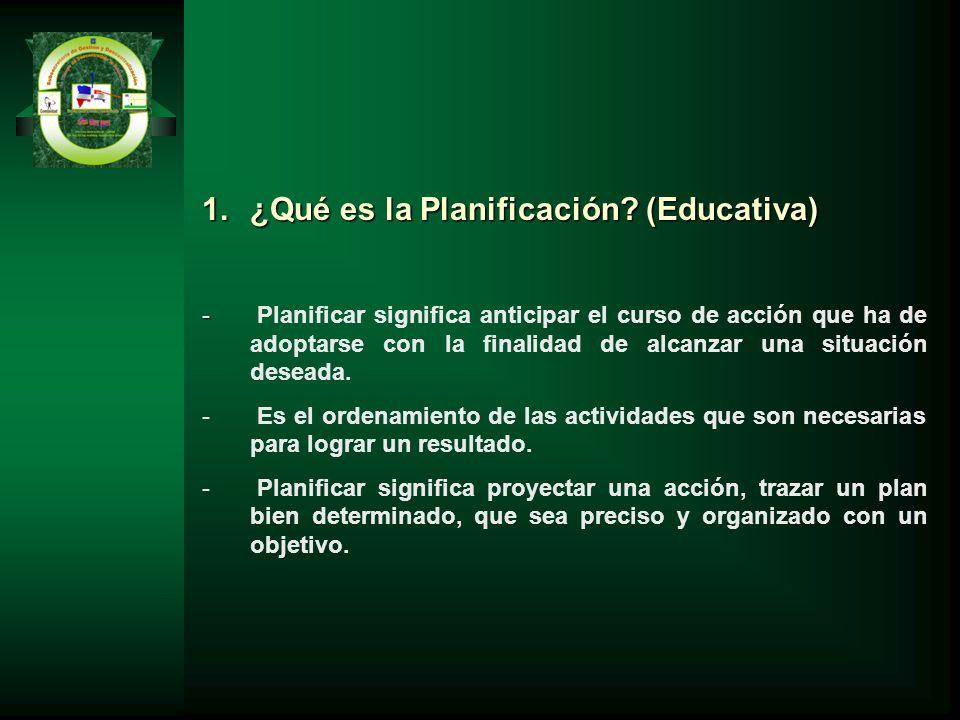 ¿Qué es la Planificación (Educativa)