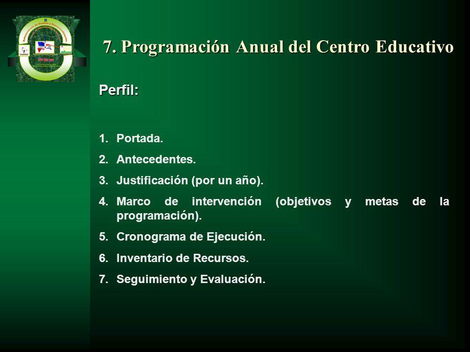 7. Programación Anual del Centro Educativo