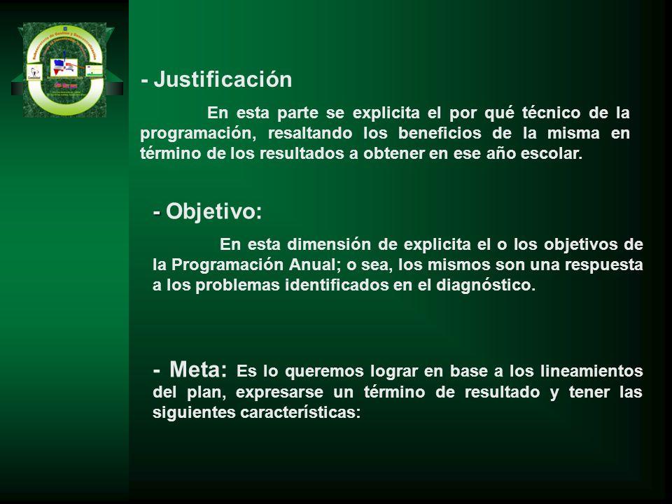 - Justificación - Objetivo: